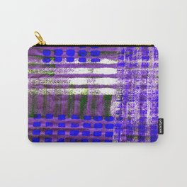 Street Plaid-Ultra Blue Carry-All Pouch