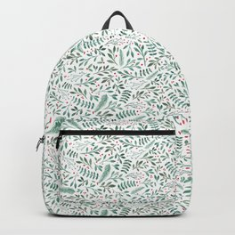 Green Leaves and Red Berries. Backpack