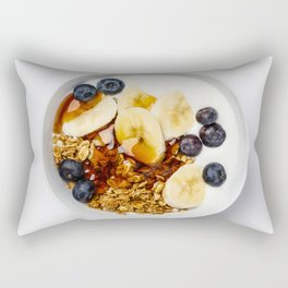 Healthy vegetarian breakfast Rectangular Pillow