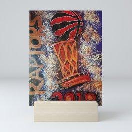 raptors 3,champion,basketball,gold,poster,wall art,2019,winners,NBA,finals,toronto,canada,painting Mini Art Print