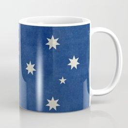 The National flag of Australia, retro textured version (authentic scale 1:2) Coffee Mug