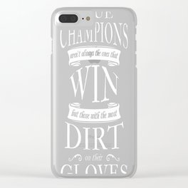 Soccer Goalkeeper True Champions Clear iPhone Case