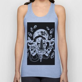 Snakes, Crystals, & A Full Moon Gothic Witchy Unisex Tank Top