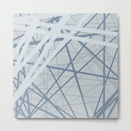 Blue gray abstraction Metal Print