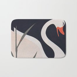 Swan and Duckling Vintage Art Bath Mat