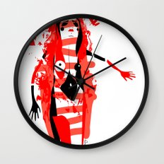 Run - Emilie Record Wall Clock