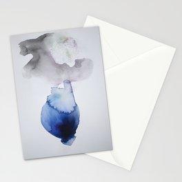 Velvet Blue Watercolor Lotus Stationery Cards