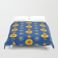 ukraine Duvet Covers featuring Sunflowers of Ukraine by rusanovska