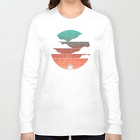 help Long Sleeve T-shirts featuring Go West by Picomodi