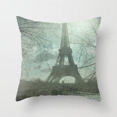 Monday in Paris Throw Pillow