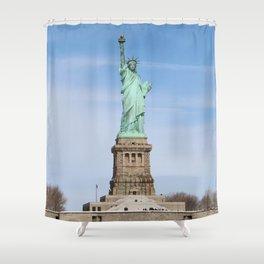 """Liberty Enlightening the World"" Shower Curtain"