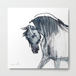 Horse (Navy Blue) Metal Print