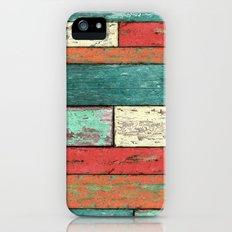 Cubic Wood iPhone (5, 5s) Slim Case