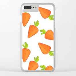 carrot pattern Clear iPhone Case