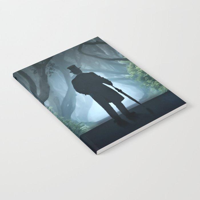 Morning visit in cold Dark Hedges Notebook