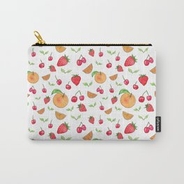 Oranges & Strawberries Pattern Carry-All Pouch
