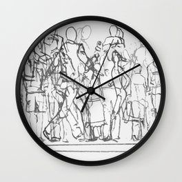 People on the Move Wall Clock