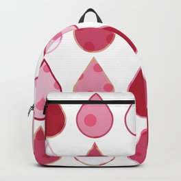 Decorative Drops of pinks and white Pattern Backpack