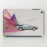 back to the future iPad Cases featuring Back to the Future by avoid peril