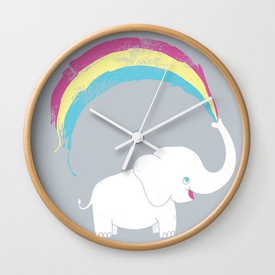 Elephant Painting! Wall Clock