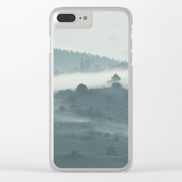 morning mist. Clear iPhone Case