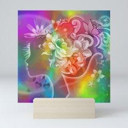 Rosalinde das Blumenmädchen Mini Art Print