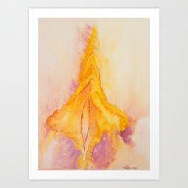 Golden Yoni Art Print