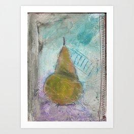 The Last Winter Pear Art Print