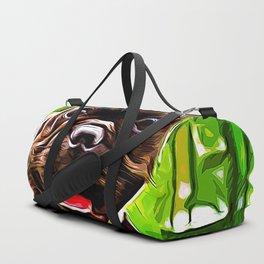 french bulldog basketball vector art Duffle Bag