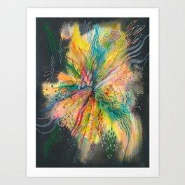 when your heart explodes Art Print