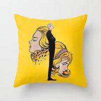 lichtenstein Throw Pillows featuring Lichtenstein by Matias G. Martinez