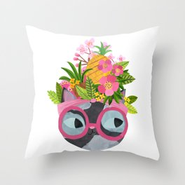 Carmen Meow-randa Throw Pillow