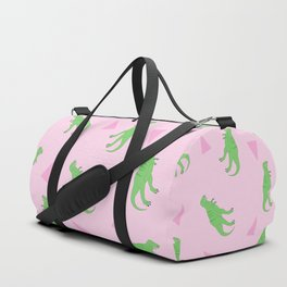 T-Rex Girly Pattern Duffle Bag