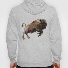 Bison, Bull, animal woodland, bison art, wildlife design Hoody