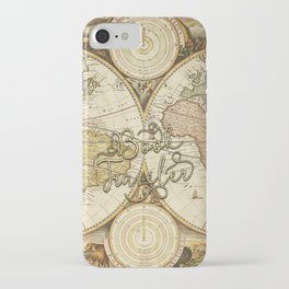 Book Traveler Vintage Map v2 iPhone Case