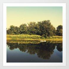 Canoe Regatta Art Print