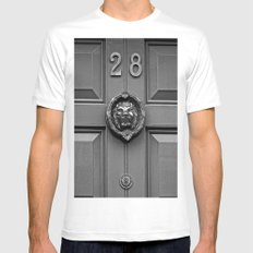 The Lion at 28 Mens Fitted Tee MEDIUM White