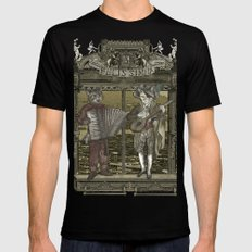 Steampunk Rock Band MEDIUM Black Mens Fitted Tee