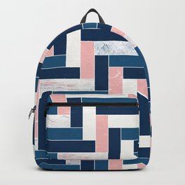 Midnight Blue Chevron Pattern Backpack