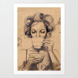 Tea Drinker  Art Print