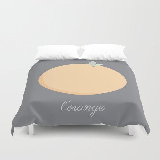 L'orange Duvet Cover