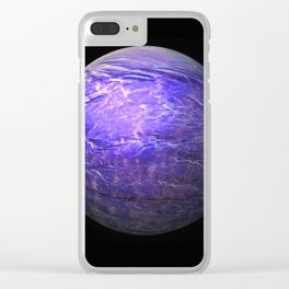 Globe16/For a round heart Clear iPhone Case