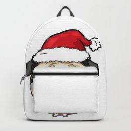 Pug Dog Christmas Hat Present Backpack