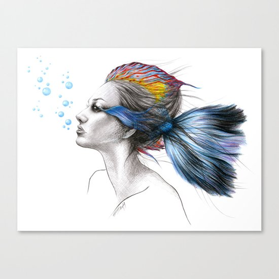 When I was a fish Canvas Print