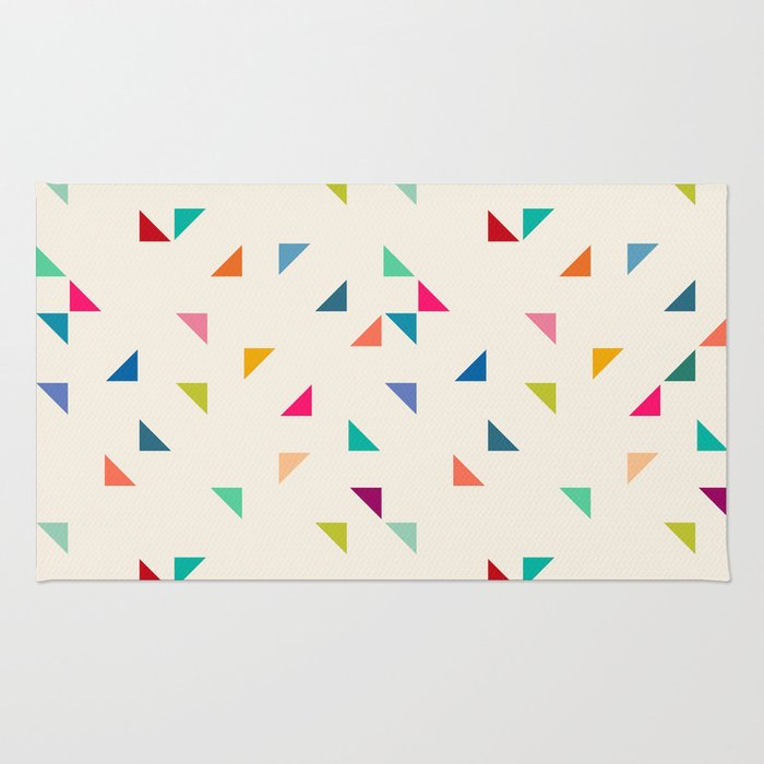 Seamless geometric pattern with triangles Rug