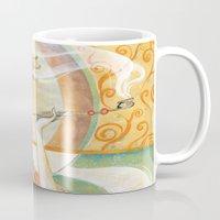 klimt Mugs featuring Klimt Oiran by Sara Richard