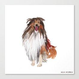 watercolor dog vol1 collie Canvas Print