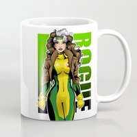 rogue Mugs featuring Rogue by Genevieve Kay