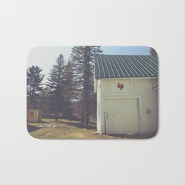 White Barn Red Rooster Bath Mat