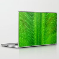banana leaf Laptop & iPad Skins featuring Banana Leaf by moo2me
